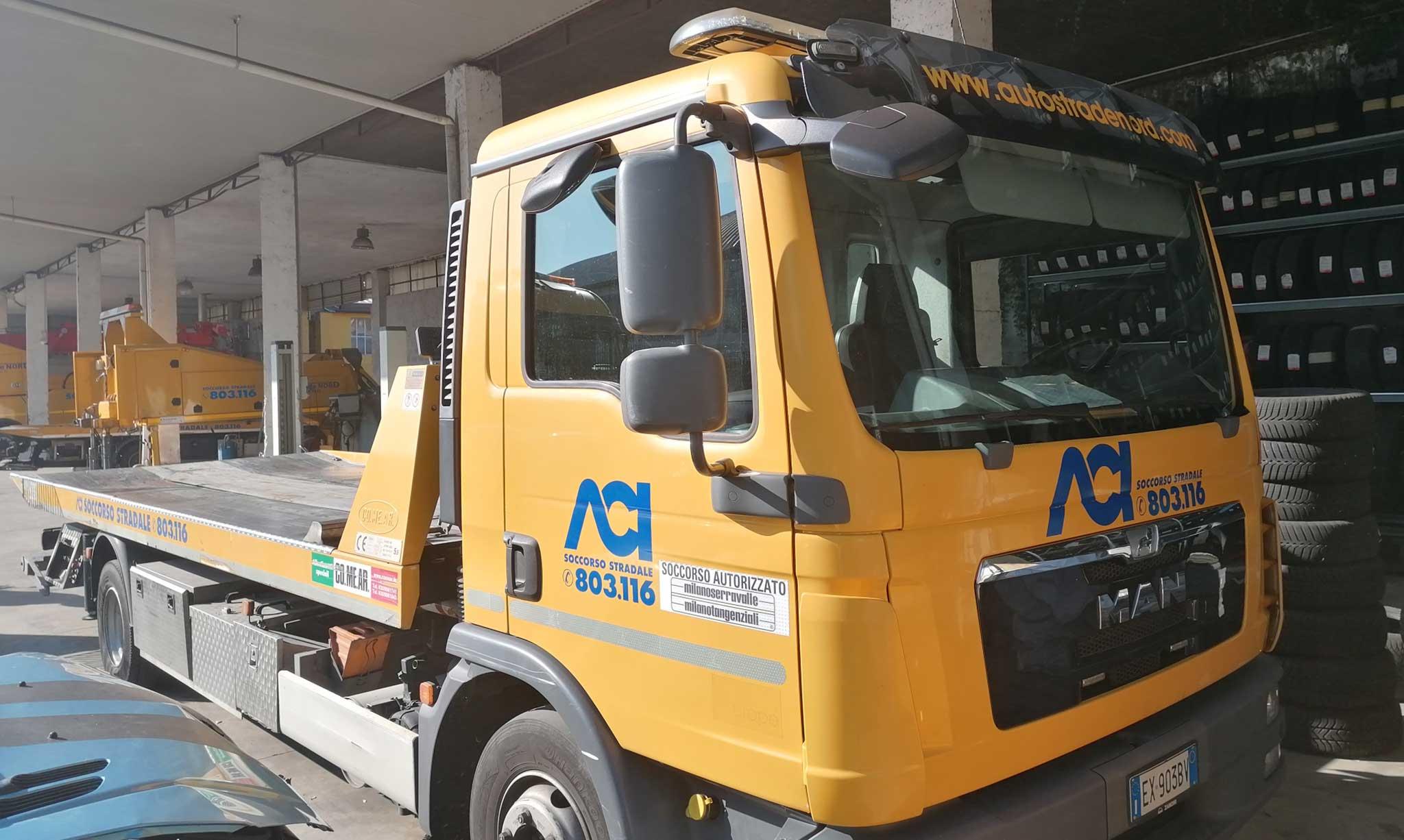 Soccorso stradale carro attrezzi H24 Milano nord - MAN TGL120